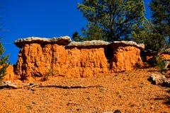 Formations de roche colorées images libres de droits