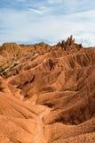 Formations de roche colorées en canyon de conte de fées, Kirghizistan photo libre de droits