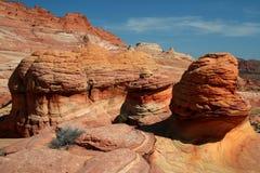 Formations de roche colorées par rouille Image libre de droits