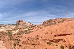 Formations de roche de désert, vallée de parc d'état du feu, Nevada, Etats-Unis images stock