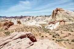 Formations de roche de désert, vallée de parc d'état du feu, Nevada, Etats-Unis photographie stock libre de droits