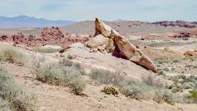 Formations de roche de désert, vallée de parc d'état du feu, Nevada, Etats-Unis photo stock