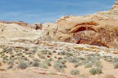Formations de roche de désert, vallée de parc d'état du feu, Nevada, Etats-Unis photographie stock