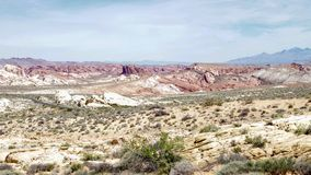 Formations de roche de désert, vallée de parc d'état du feu, Nevada, Etats-Unis photo libre de droits