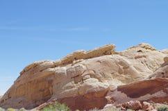 Formations de roche de désert, vallée de parc d'état du feu, Nevada, Etats-Unis image libre de droits