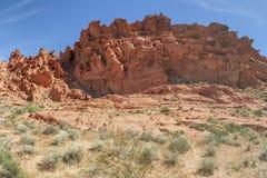 Formations de roche de désert, vallée de parc d'état du feu, Nevada, Etats-Unis photos libres de droits