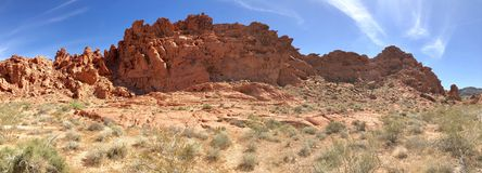 Formations de roche de désert, vallée de parc d'état du feu, Nevada, Etats-Unis images libres de droits