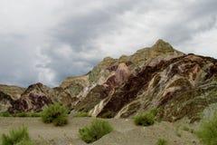Formations de roche d'Alcazar de Cerro en Argentine Photos libres de droits