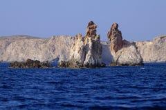 Formations de roche d'Arkoudes Image stock