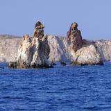 Formations de roche d'Arkoudes photographie stock libre de droits