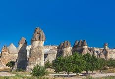 Formations de roche dans Cappadocia Turquie Image stock
