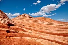 Formations de roche dans la vallée du parc d'état du feu, Etats-Unis Photo libre de droits