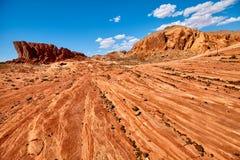 Formations de roche dans la vallée du parc d'état du feu, Etats-Unis Images libres de droits