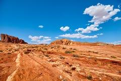 Formations de roche dans la vallée du parc d'état du feu, Etats-Unis Images stock