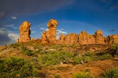 Formations de roche dans le jardin d'Éden photo libre de droits
