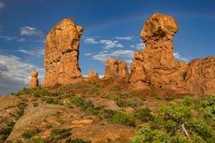 Formations de roche dans le jardin d'Éden images stock