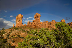 Formations de roche dans le jardin d'Éden photographie stock libre de droits