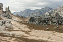 Formations de roche de Bizzare à la colline de château Image libre de droits