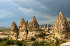Formations de roche de Cappadocia Photo stock
