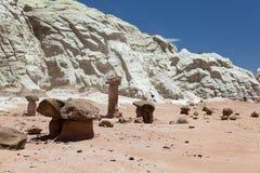 Formations de roche de champignon de couche Photo stock