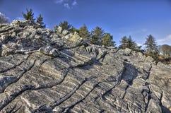 Formations de roche de Powillimount et arbres HDR Photo libre de droits