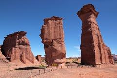 Formations de roche de Sanstone, Talampaya photos stock