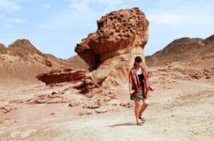 Formations de roche de stationnement de Timna, Israël photo libre de droits