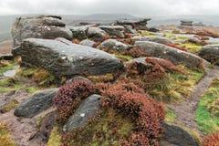 Formations de roche en brume Photographie stock libre de droits