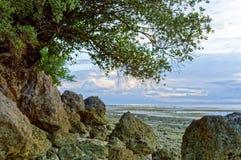 Formations de roche en mer Photos stock