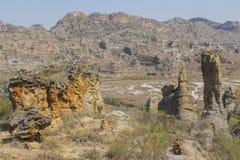 Formations de roche en parc national d'Isalo, Madagascar images stock