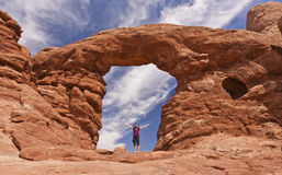 Formations de roche en parc national de voûtes Images libres de droits