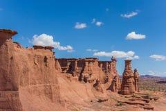 Formations de roche en parc national de Talampaya photo stock