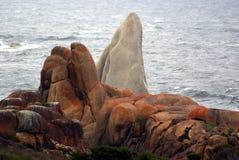 Formations de roche en Tasmanie image stock