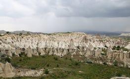 Formations de roche en vallée d'amour, Cappadocia Photographie stock