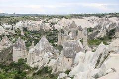 Formations de roche en vallée d'amour, Cappadocia Images libres de droits