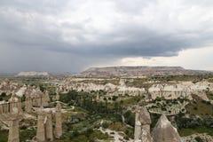 Formations de roche en vallée d'amour, Cappadocia Image libre de droits
