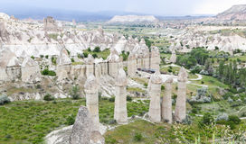 Formations de roche en vallée d'amour, Cappadocia Photos stock