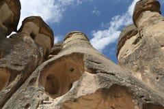 Formations de roche en vallée de moines de Pasabag, Cappadocia Images stock