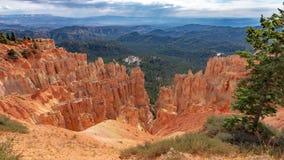 Formations de roche de grès, Bryce Canyon, Utah image stock