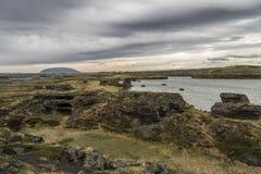 Formations de roche de Höfði photos libres de droits