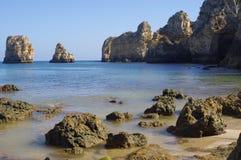 Formations de roche intéressantes de grès photographie stock libre de droits