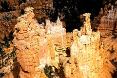 Formations de roche majestueuses chez Bryce Canyon N P Image stock