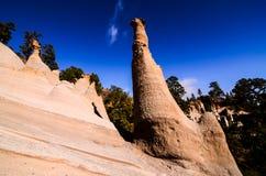 Formations de roche Paisaje lunaire Image libre de droits