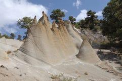 Formations de roche Paisaje lunaire, Tenerife Photos stock