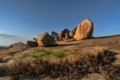 Formations de roche pittoresques du parc national de Matopos, Zimbabwe images libres de droits