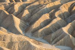 Formations de roche de point de Zabriskie photographie stock