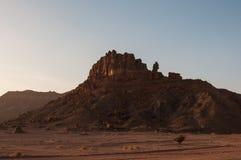 Formations de roche près d'Al-Ula dans les déserts de l'Arabie Saoudite images libres de droits