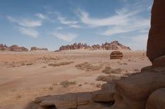Formations de roche près d'Al-Ula dans les déserts de l'Arabie Saoudite images stock
