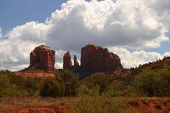 Formations de roche rouges dans Sedona, Arizona Image stock