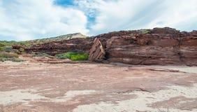 Formations de roche rouges de bluff photographie stock libre de droits
